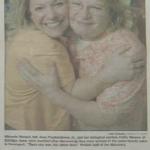 アンビリバボー 養子縁組で5分で生き別れた娘ミシェルと母キャシーは美容院の元同僚?8月18日 奇跡の手紙と再会・ネイルアートのプレゼン ト 画像